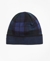 Brooks Brothers Black Watch Tartan Beanie