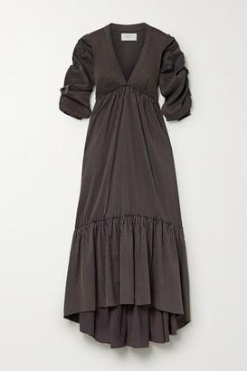 La Ligne Gitane Ruched Striped Cotton-blend Dress