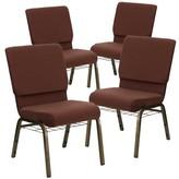 Church's Laduke Chair Symple Stuff Seat Finish: Brown, Frame Finish: Gold Vein