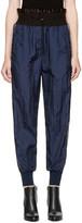 3.1 Phillip Lim Navy Smocked Jogger Lounge Pants