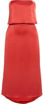 Halston Tiered Satin Midi Dress - US14