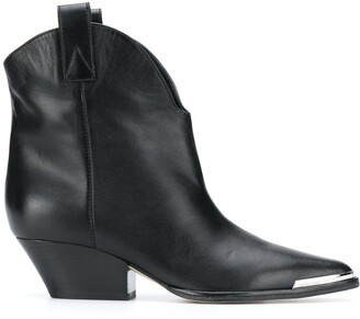 Sergio Rossi Capped-Toe Ankle Boots