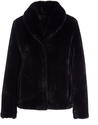 Weatherproof Women's Non-Denim Casual Jackets BLACK - Black Fuzzy Jacket - Women & Plus