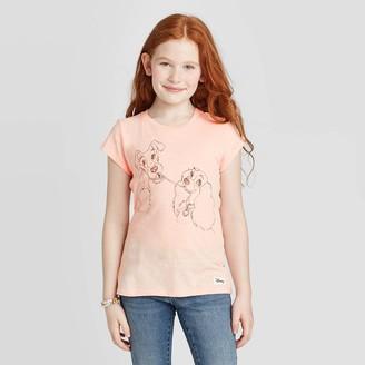Disney Girls' Lady And The Tramp T-Shirt - Blush