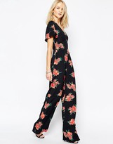 Flynn Skye Flutter Jumpsuit In Blush Poppy