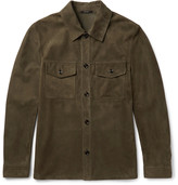 Tom Ford - Slim-fit Suede Shirt Jacket