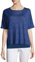Eileen Fisher Short-Sleeve Delave Linen Top