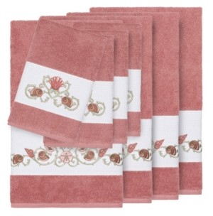 Linum Home Bella 8-Pc. Embroidered Turkish Cotton Bath and Hand Towel Set Bedding
