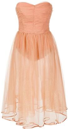 Elisabetta Franchi Sheer Tulle Glitter Detail Gown