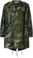 Givenchy camouflage parka coat