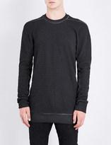 Boris Bidjan Saberi Toggle-detail cotton-jersey sweatshirt