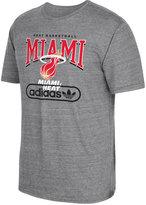 adidas Men's Miami Heat Pointed Tri-Blend T-Shirt