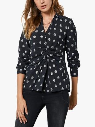 Mint Velvet Eve Polka Dot Shirt, Multi