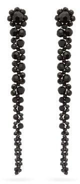 Simone Rocha Drip Crystal-embellished Earrings - Black