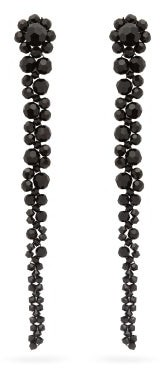 Simone Rocha Drip Crystal-embellished Earrings - Black