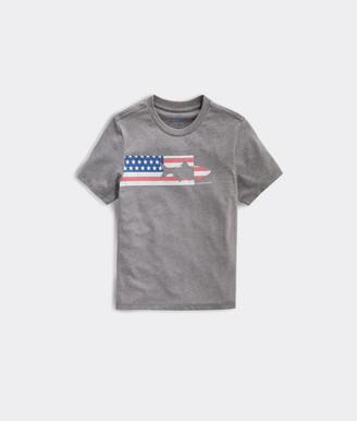 Vineyard Vines Boys' USA Tarpon Chest Stripe Short-Sleeve Tee