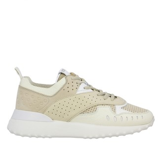 Tod's Sneakers In Perforated Leather With Logo And Rubbers