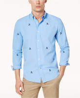 Tommy Hilfiger Men's Johnson Embroidered Crest Classic-Fit Shirt, Created for Macy's