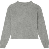 Frame Cropped Ribbed Cashmere Sweater - Gray