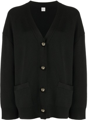 Totême Button-Up Wool Cardigan