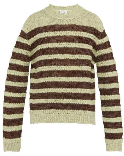 Acne Studios Striped Sweater - Mens - Brown