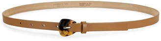 Lafayette 148 New York Leather Buckle Skinny Belt