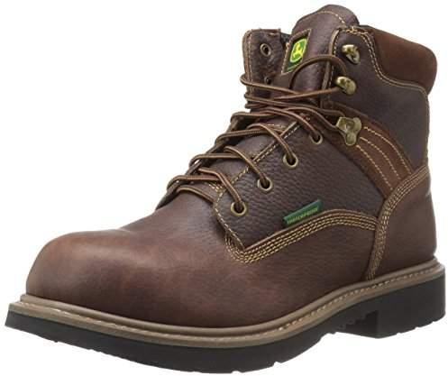 John Deere Men's 6 Brn WP Nst Farm/Wrk LU Work Boot