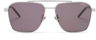 Mulberry Clifton Sunglasses Silver and Charcoal Grey
