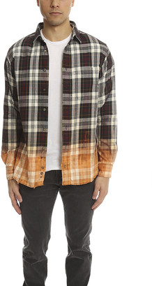 Blue & Cream Blue&Cream Dip Dye Flannel