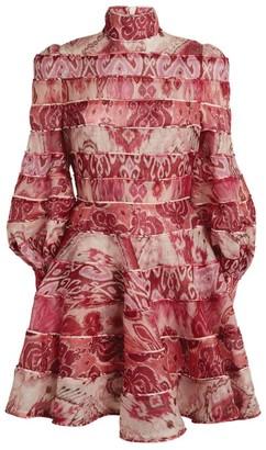 Zimmermann Spliced Printed Mini Dress