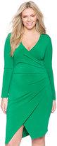 ELOQUII Plus Size Asymmetrical Wrap Dress