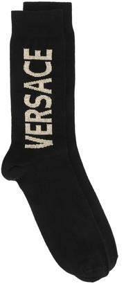Versace Jacquard Logo Socks