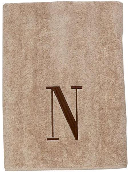 Avanti Monogram Block Bath Towels
