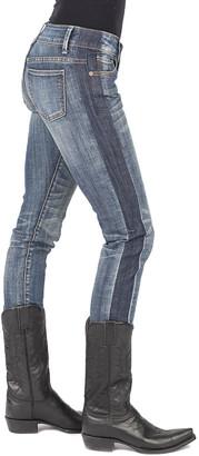 Stetson Women's Denim Pants and Jeans BLUE - Light Blue Color Block Skinny Jeans - Women