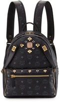 MCM Dual Stark Small Visetos Backpack w/ Pouch, Black