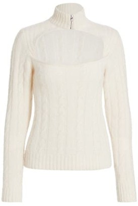 Ganni Alpaca & Wool-Blend Cutout Sweater