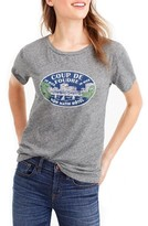 J.Crew Women's South Of France Travel Graphic Tee