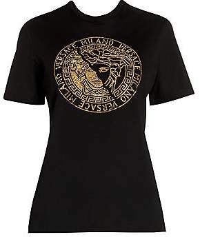 Versace Women's Jeweled Medusa Tee