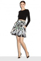 Milly Painted Floral Kayla Mini Pleated Skirt