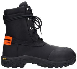 Heron Preston Security Boot Combat Boots In Black Synthetic Fibers