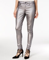 Tinseltown Juniors' Metallic Coated Skinny Jeans