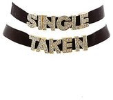 Charlotte Russe Single & Taken Choker Necklaces - 2 Pack