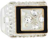 Rachel Zoe Resin Crystal Ring
