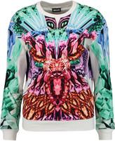 Just Cavalli Printed stretch-cotton sweatshirt
