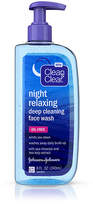 Clean & Clear Night Relaxing Deep Cleaning Face Wash, Oil-Free