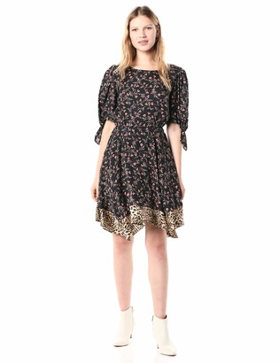 Rebecca Taylor Women's Short Sleeve Floral Dress