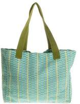 Cotton tote, 'Emerald Honeycomb'
