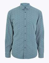 M&S CollectionMarks and Spencer Cotton Mini Leaf Print Shirt