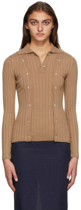 Jacquemus Beige Wool La Maille Baho Polo