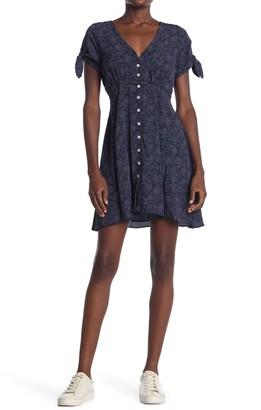 Heartloom Alina Tie Sleeve V-Neck Dress